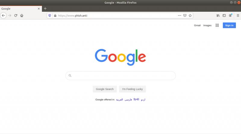 Muraena hosting Google